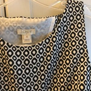 NWT JCREW patterned dress w/ back cut out - size 0